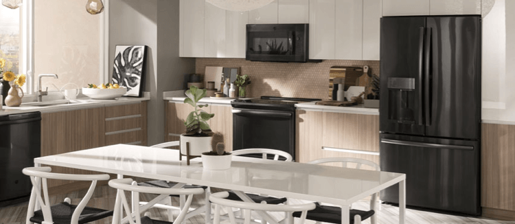 GE Appliances in spacious and modern home kitchen